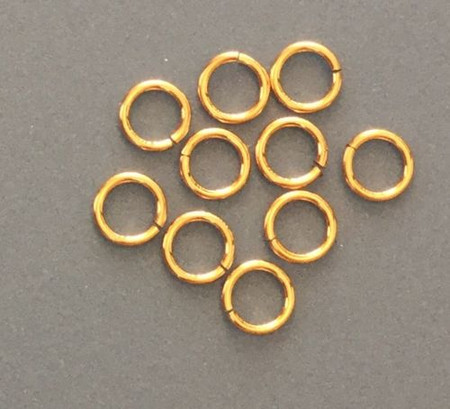 14KT Gold Filled 4mm round Jump Ring Finding-20 Pieces Jewelry Supplies