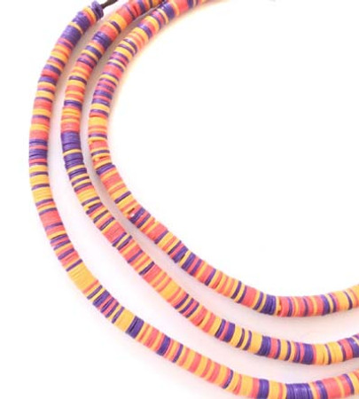 Magic Coral variety Recycled Phono Record Vinyl African trade beads-Ghana
