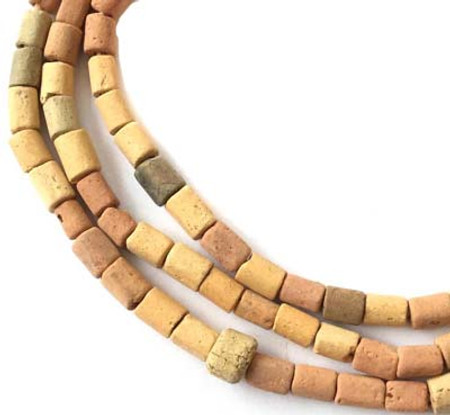 Strand of Old African Mali Clay trade beads