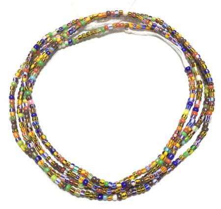 Multi color Ghana seed Beads A-055