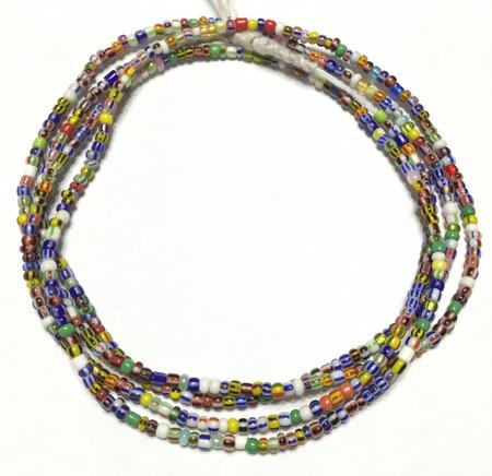 Multi color Ghana seed Beads A-056