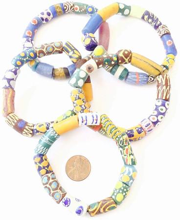 Handmade Ghana Designed Bracelet-African Trade Beads-Ghana