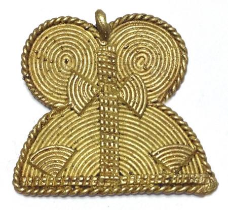 authentic African handmade brass tribal pendant