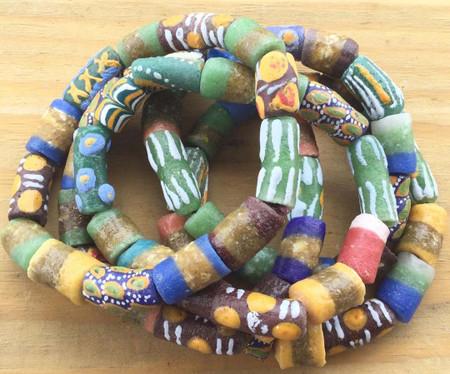 Multi color Handmade Ghana Fancy Happy Summer multi bracelet-African Trade Beads-Ghana