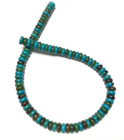 90 Turquoise Rondelle Gemstone beads Stone