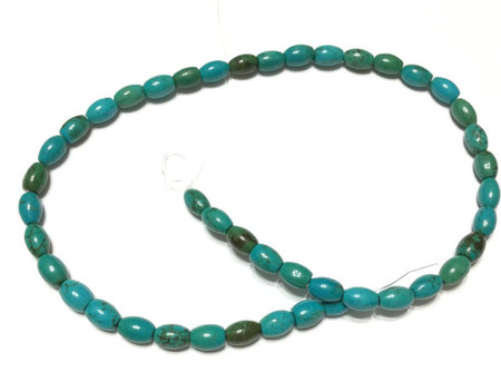 41 Natural Oval Rice Turquoise Gemstone Beads Stone-Jewelry Supplies