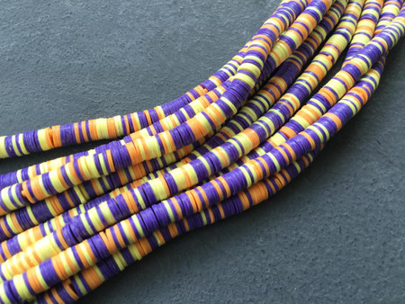 Magic mixed Purple multi Recycled Phono Record Vinyl African trade beads-Ghana