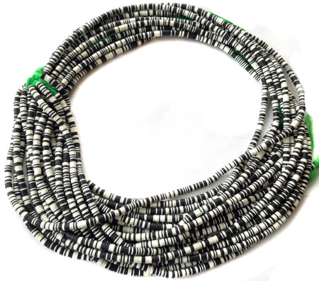 Magic mixed Black and white multi Recycled Phono Record Vinyl African trade beads-Ghana