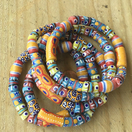 Handmade Ghana Fancy African Highlife multi beaded bracelet