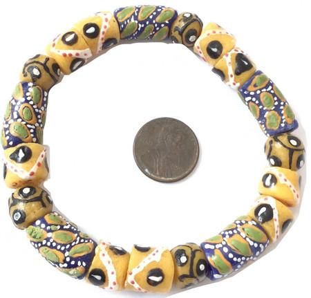 Akwaba Ghana Fancy multi bracelet-African Trade Beads-Ghana