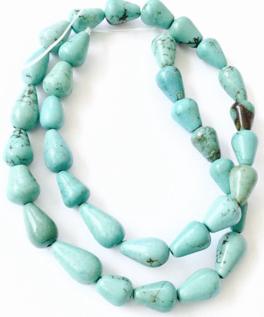 Fine Natural Long Drop Magnesite Turquoise Gemstone beads Stone-jewelry Supplies