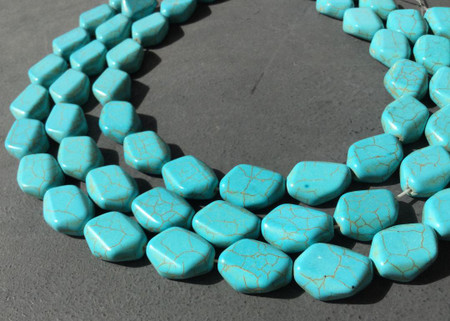 20x15mm Natural Turquoise Oval Gemstone beads Gemstone Beads-Jewelry Supplies