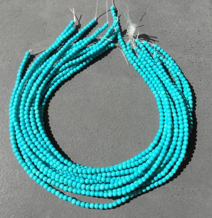 4mm Turquoise round Gemstone beads-Jewelry Supplies