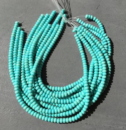 Fine genuine Rondelle Turquoise Gemstone beads Gemstone Beads
