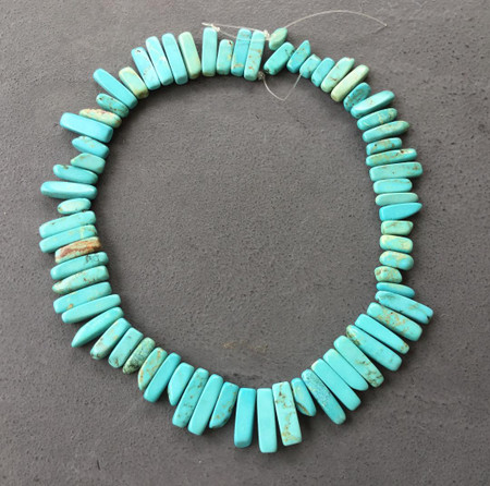 22x13mm Natural graduated Turquoise chip Gemstone beads