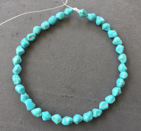 11x9mm Turquoise Nugget Gemstone beads