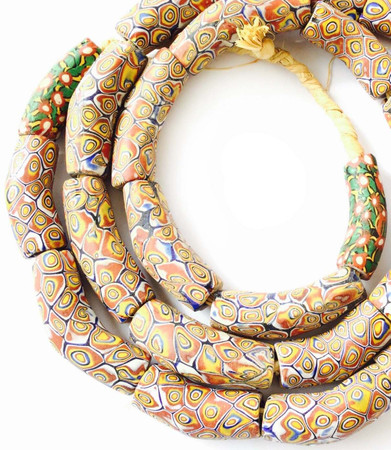 Rare Antique Venetian earthly eye millefiori glass African trade beads