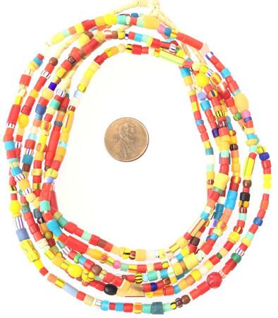 Antique African Christmas Assortment Beads African Trade Beads-Ghana