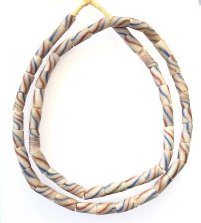 Old African Antique Ghana Krobo powderglass trade beads