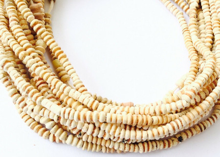 Strands Tiny Antique African Clay Terracotta Mali Trade Beads