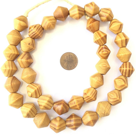 Amazing fine Natural Rosewood Wood Bead Bicone Beads jewelry Supplies