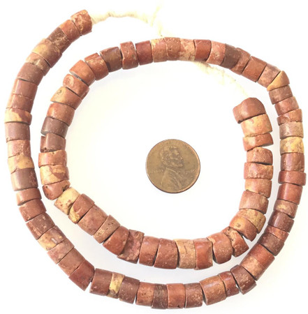 Strand of Abo Bauxite African Ghana trade beads