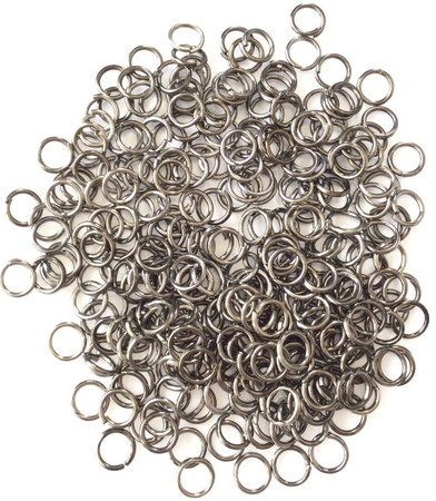 5mm Gunmetal Jump ring 300 Pieces-Jewelry making Findings-Wholesale Price