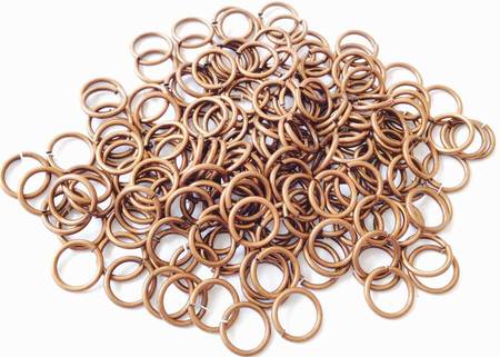 200 Antique Copper Plated 20 GA Open jump rings-Beading Supplies Findings