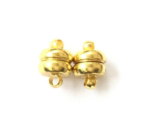 7mm Gold Plated Fancy Smooth Magnetic Clasp