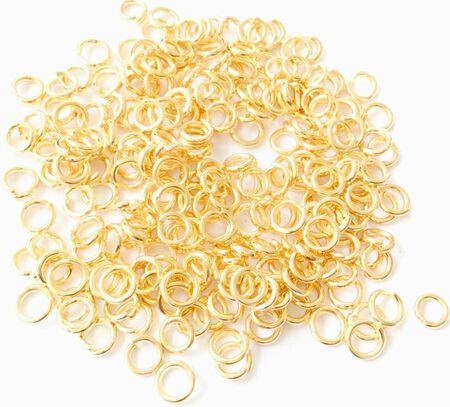 12.5mm Gold Plated Closed rings-18 Gauge Beading Supplies Findings