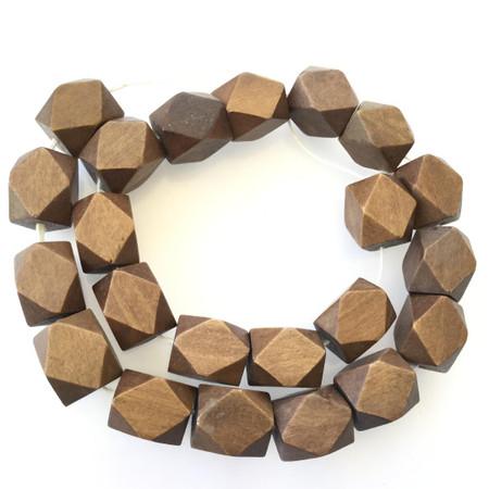Natural Wood Beads Natural dark brown color