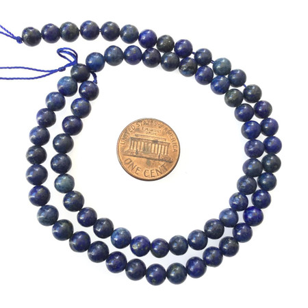 6mm blue Lapis Gemstone Round beads