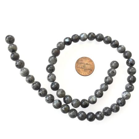 8mm Round natural Labradorite Beads