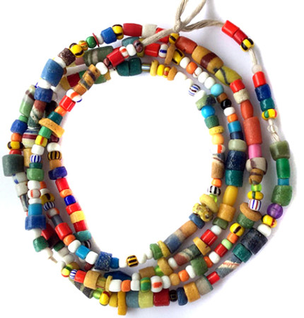 Amazing Ghana Mixed Vintage Christmas seed glass African trade Beads