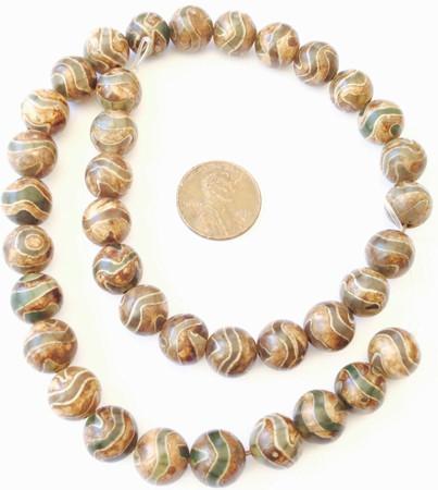 10mm Fine Brown Multi Agate Round Gemstone beads Stone