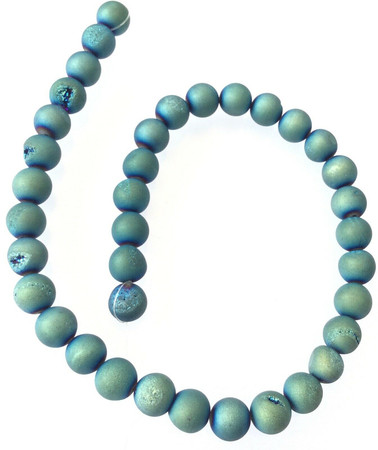 10mm Amazing Round Blue Druzy Agate Gemstone beads Stone-jewelry Supplies