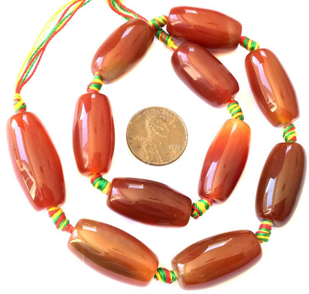 Perfect Gemstone natural Oval Carnelian Agate Gemstone Beads