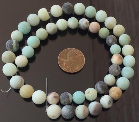 8mm Fine Round Matte Amazonite Gemstone beads Stone-jewelry Supplies