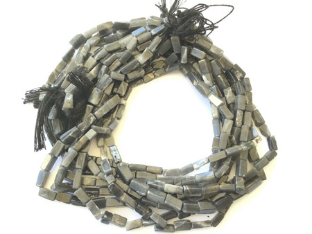 Amazing Gemstone Dark Grey Labradorite Gemstone Beads-7-10mm Jewelry Supplies