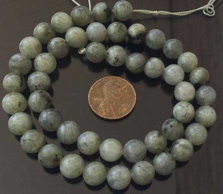 8mm Fine Round Lt Grey Labradorite Gemstone beads Stone-jewelry Supplies