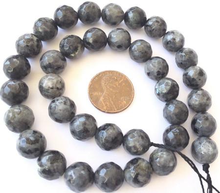 10mm Fine Round Faceted Labradorite Gemstone beads Stone-jewelry Supplies