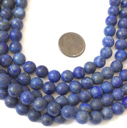 Amazing Natural Matte Lapis Lazuli Gemstone beads Stone Jewelry Supplies