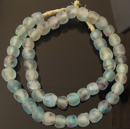 winter multi Krobo recycled Glass African trade Beads-Ghana