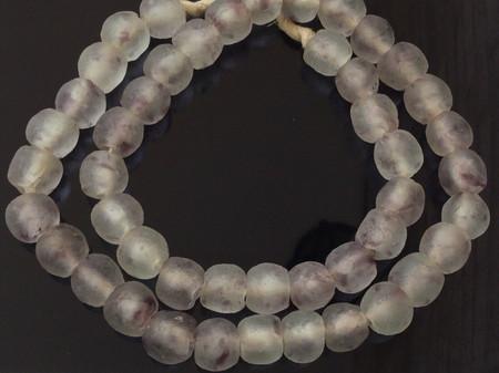 Amethyst multi Handmade Krobo recycled Glass African trade Beads- Ghana