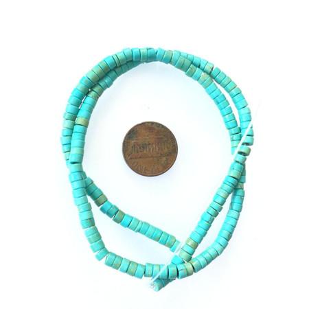 Turquoise  Howlite Heishi Gemstone beads Stone Gemstone Beads