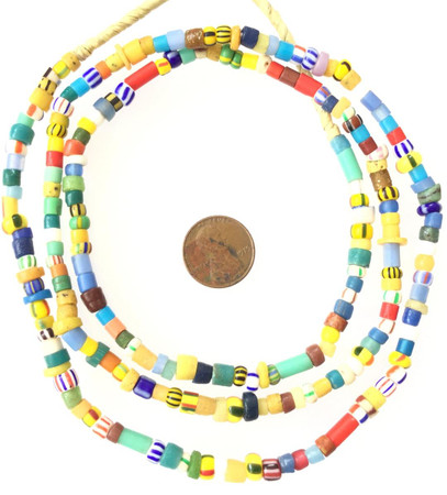 mixed Christmas glass vintage African trade Beads from Ghana