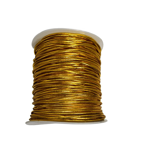 2mm Beading Gold Round Elastic Stretchy Cord 100 yard spool