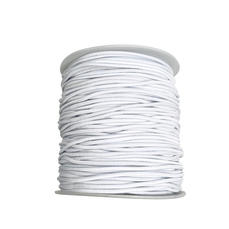 2mm Beading White Round Elastic Stretchy Cord 100 yard spool