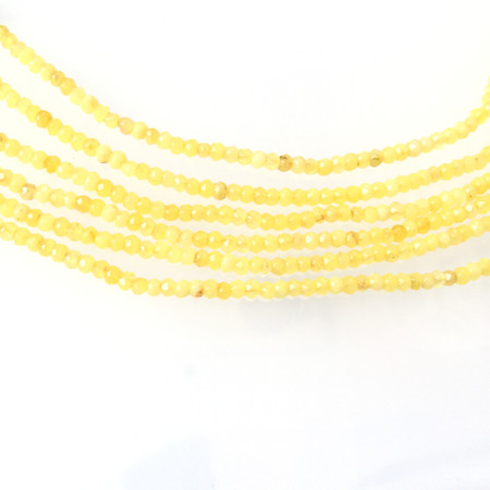 4mm Amazing Citrine faceted rondelle Gemstone Beads