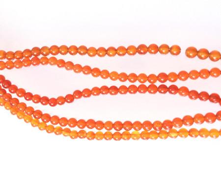4mm Round Carnelian Agate Gemstone Beads